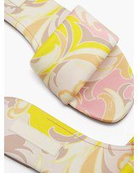 Emilio Pucci Tropicana-print Cotton-twill Slides - Yellow