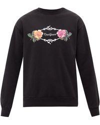 Noon Goons ガーデン ロゴ コットンスウェットシャツ - ブラック