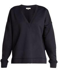 Tibi - Ribbed-jersey V-neck Sweatshirt - Lyst