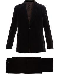 The Row Alec Single-breasted Cotton-velvet Tuxedo Suit - Black