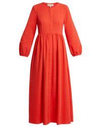 Mara Hoffman - Paula Balloon-sleeved Organic-cotton Dress - Lyst