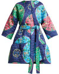 Rianna + Nina - Anastasia Folk Print Quilted Silk Jacket - Lyst