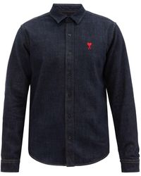 AMI - De Cœur-logo Denim Shirt - Lyst