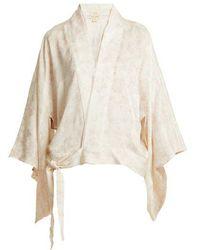 Chufy Embroidered Nibushiki Kimono Jacket - Multicolor