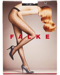 FALKE ポルカドット 15デニールタイツ - ブラック