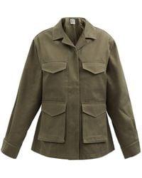 Totême Cargo-pocket Cotton-canvas Jacket - Green