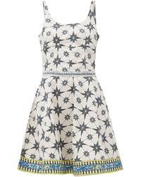 Le Sirenuse Robe courte en popeline de coton à imprimé Cindy - Multicolore