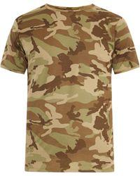 The White Briefs | Camo-Print Cotton T-Shirt | Lyst