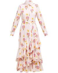 f4a38661ebd Borgo De Nor - Aurora Floral Cotton Shirt Dress - Lyst