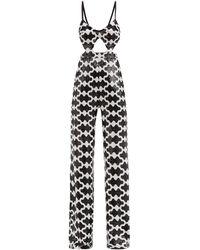 Halpern Cutout Sequinned Jumpsuit - Black