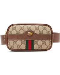 Gucci Ophidia Gg Supreme Iphone® Belt Bag - Brown