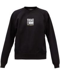 Versace - ロゴプリント コットンスウェットシャツ - Lyst