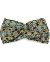 Fendi Geometric Print Silk Headband - Green