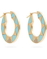 Marc Alary - Diamond, Turquoise & Yellow Gold Earrings - Lyst