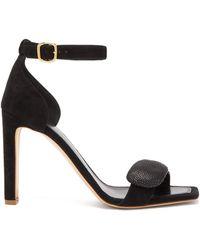 Rupert Sanderson Melissa Pebble Suede Sandals - Black