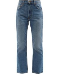 B Sides Field Washed-denim Kick Flare Jeans - Blue