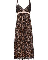 Gucci フローラルレース スリップドレス - ブラック