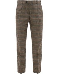 Éditions MR - Francois Prince Of Wales Check Wool Blend Trousers - Lyst