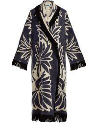 Marit Ilison - Palm Intarsia Fringed Cotton Coat - Lyst