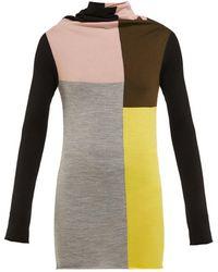Colville Color Block Wool Sweater - Multicolor