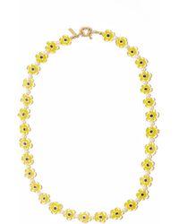 Eliou Éliou Trini Millefiori Glass & Gold-plated Necklace - Yellow