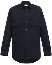Raey チェストポケット コットンシャツ - ブルー