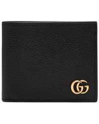 Gucci - Gg Marmont Grained-leather Bi-fold Wallet - Lyst