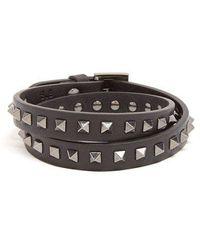 Valentino - Wraparound Rockstud-embellished Leather Bracelet - Lyst