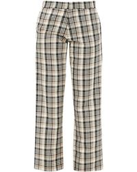 Edward Crutchley Checked Wool Tailored Pants - Multicolor