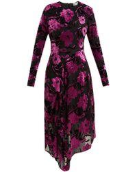 Preen By Thornton Bregazzi - Alyssa Floral Devoré Midi Dress - Lyst