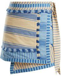 Dodo Bar Or - Hoza Striped Cotton Wrap Skirt - Lyst
