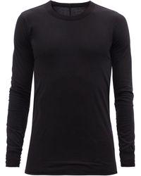 Rick Owens バックステッチ ロングスリーブtシャツ - ブラック