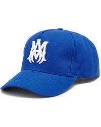 Amiri ロゴ コットンキャンバス ベースボールキャップ - ブルー