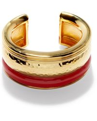 Aurelie Bidermann Venice Enamel Gold-plated Cuff - Metallic
