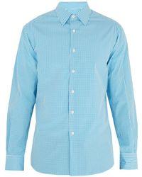 Prada - Single-cuff Gingham Cotton-poplin Shirt - Lyst