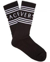 Versace Logo Intarsia Socks - Black