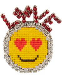 Shourouk - Emojibling Love Smiley Face Brooch - Lyst