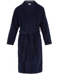 Calvin Klein - Logo-jacquard Cotton-terry Bathrobe - Lyst