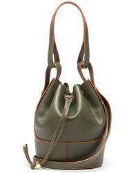 Loewe バルーン スモール レザーバケットバッグ - グリーン