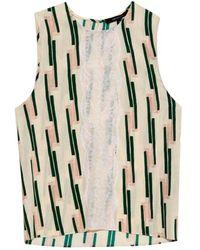 Wes Gordon | Lace-panelled Crepe Top | Lyst