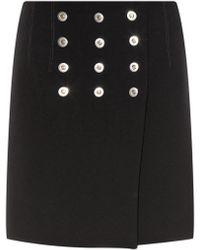 Balenciaga - Rivet-Detail Mini Skirt - Lyst