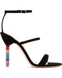 Sophia Webster - Rosalind Crystal Embellished-heel Suede Sandals - Lyst