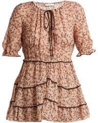 Altuzarra Kona Floral-print Silk-blend Blouse - Multicolor
