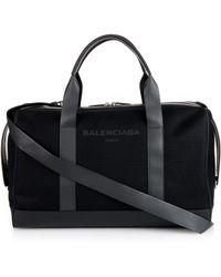 Balenciaga - Black Canvas Weekend Bag - Lyst