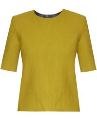 Thomas Tait - Long-sleeved Crepe Top - Lyst
