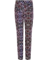 Isabel Marant - Nella High-waisted Geometric-print Jeans - Lyst