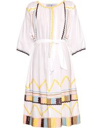 Easton Pearson Take Away - Pasouale Ribbon-trimmed Cotton Dress - Lyst