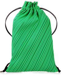 Pleats Please Issey Miyake - Drawstring Pleats Backpack - Lyst