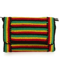 Rachel Comey Lea Striped-crochet Clutch - Black
