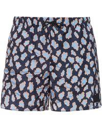 Acne Studios Perry Leopard-print Swim Shorts - Blue